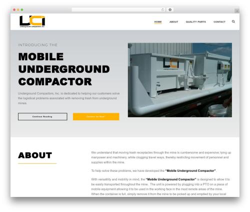 WordPress theme Jupiter - undergroundcompactors.com