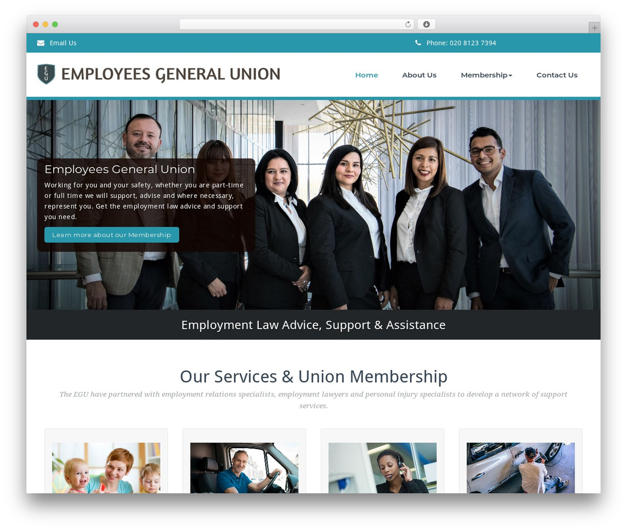 BusiProf Pro theme WordPress - employees-general-union.org
