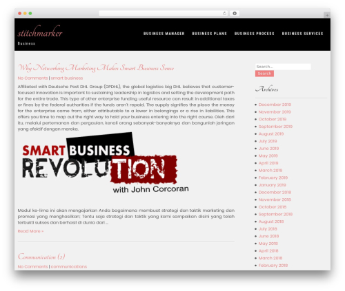Forever Lite WordPress template for business - stitchmarker.net