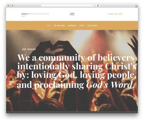 Holy Church template WordPress - phoenixfriends.net