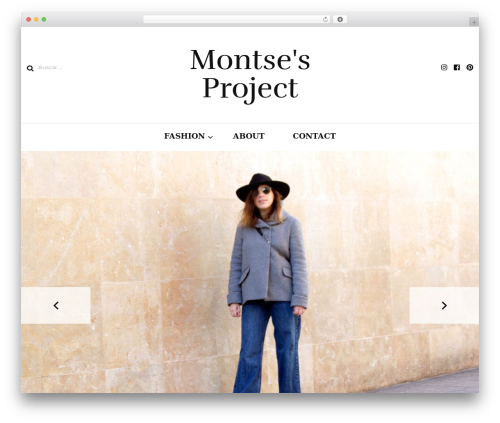 Template WordPress Blossom Fashion - montsesproject.com