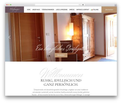 WordPress theme Hotel LUX - hofanger.com