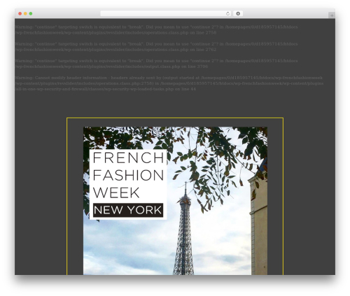 WP theme Movedo - frenchfashionweek.org