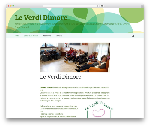 2013 Green WordPress website template - leverdidimore.org