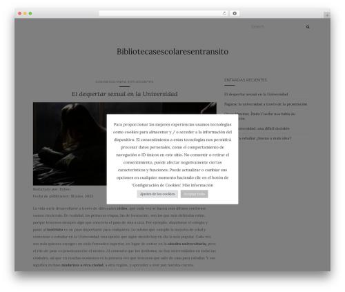 Activello best free WordPress theme - bibliotecasescolaresentransito.com