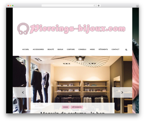 Blossom Fashion WordPress blog theme - piercings-bijoux.com