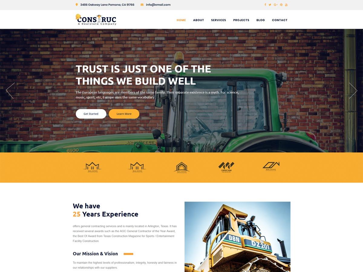 Construc company WordPress theme