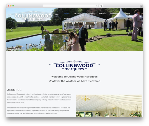 Creatink WordPress theme - collingwoodmarquees.co.uk