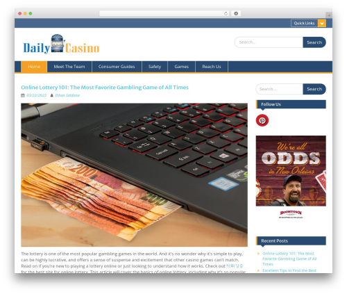 Education Hub free WordPress theme - dc-fc.com
