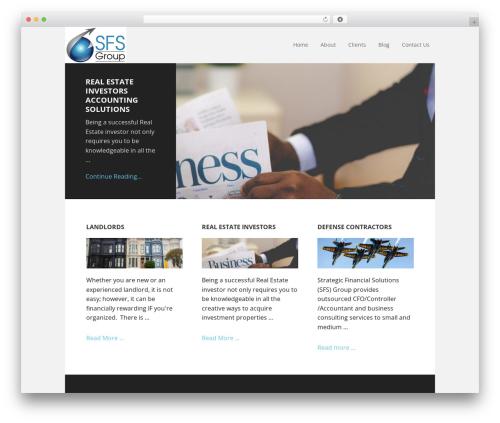 Executive Pro WordPress page template - sfsgroupllc.com