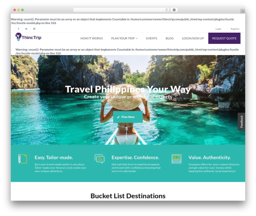 Exploore WordPress template - thinctrip.com