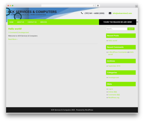 Fixit Lite WordPress theme - ackservices2.com