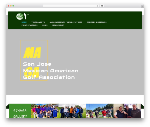 Institution WordPress template - sjmaga.org