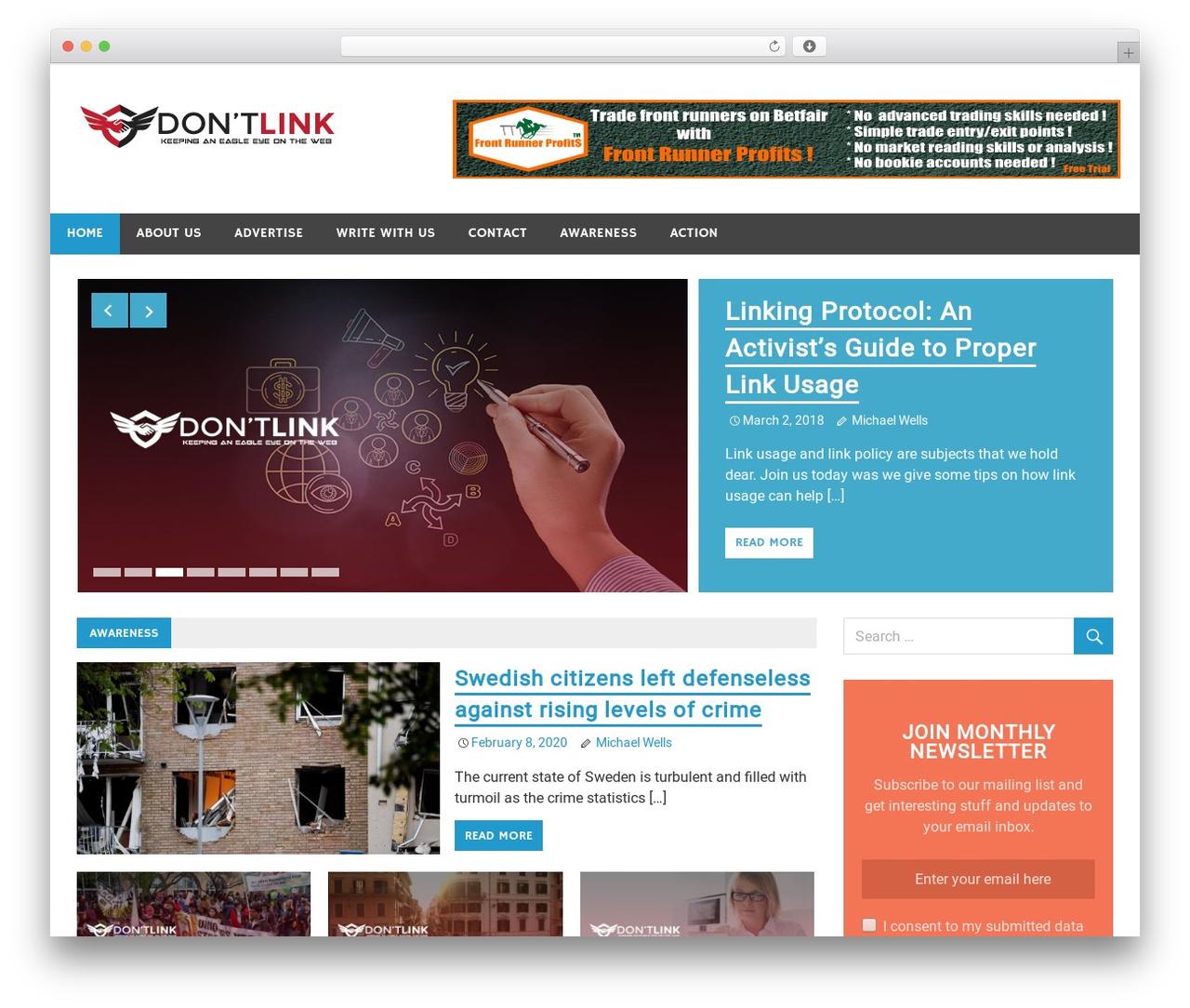 Merlin theme WordPress free - dontlink.com