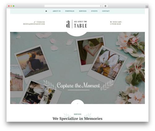 Royal Event WordPress theme - allaboutthetable.com