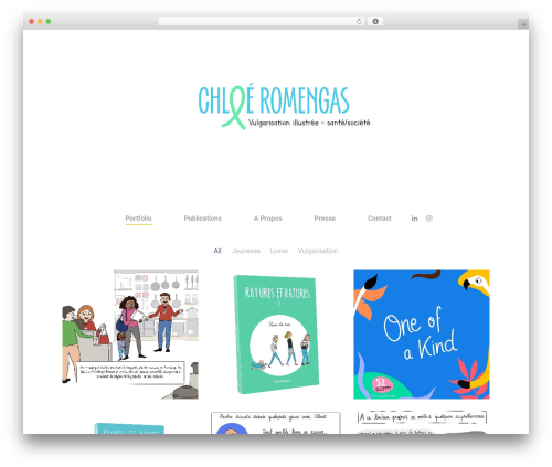 Salient WordPress portfolio theme - chloeromengas.com