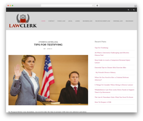 Spencer theme WordPress - lawclerk.org