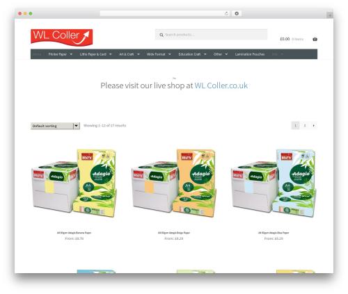 Storefront premium WordPress theme - wlcoller.com