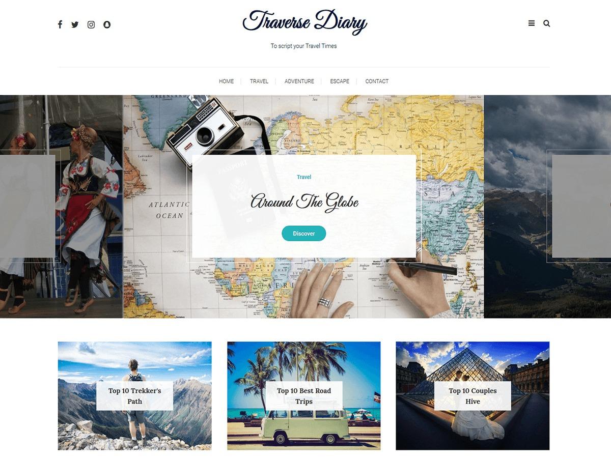 Traverse Diary WordPress portfolio theme