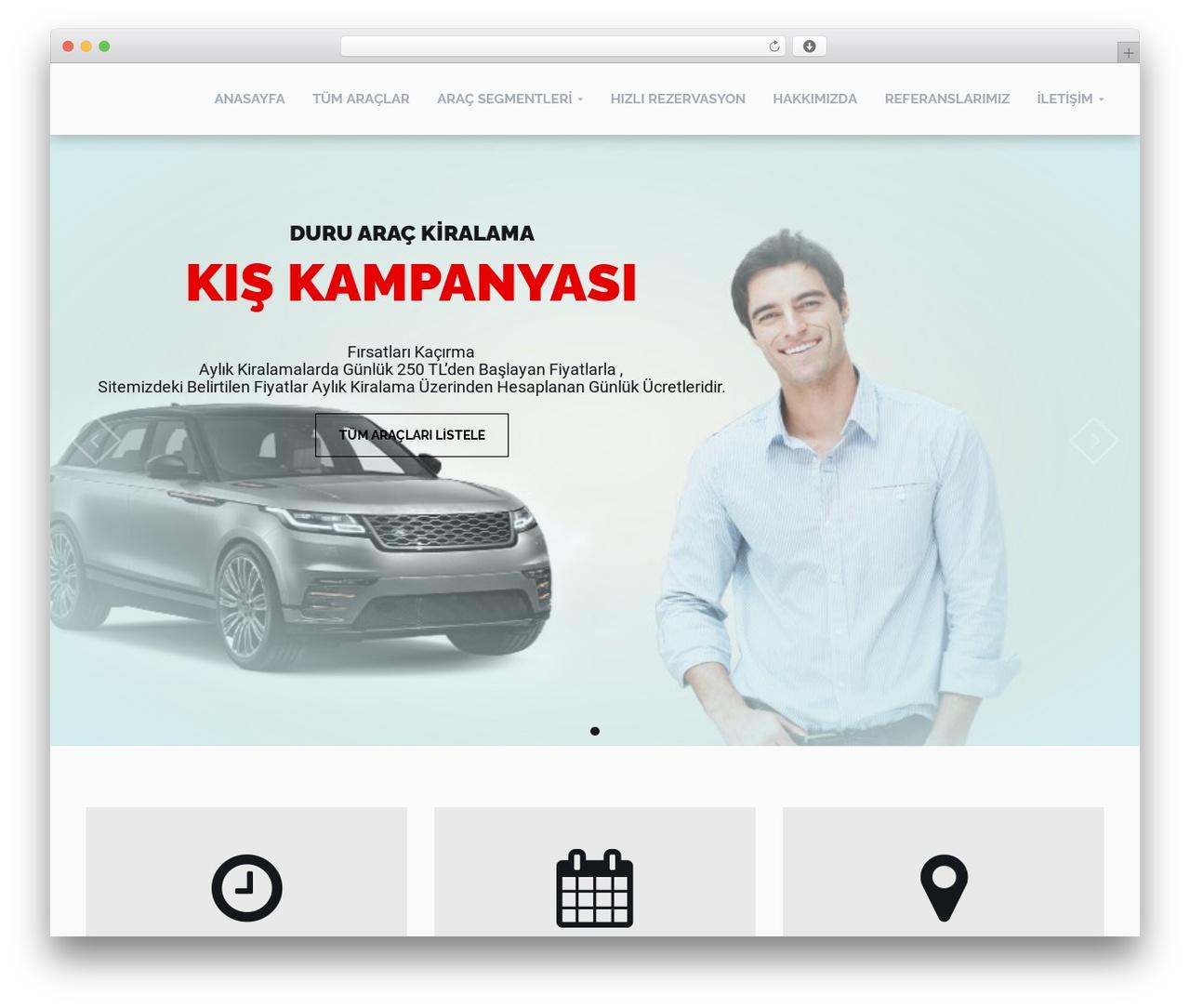 WordPress template RentIt - duruarackiralama.com