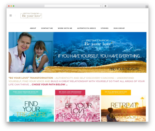 WordPress theme Malina - beyourlove.com