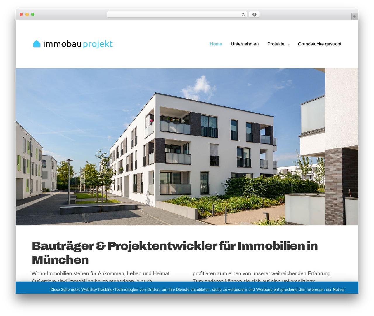 Best WordPress template Revolution - immobauprojekt.com