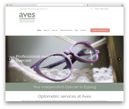 Best WordPress theme Optometry - avesonline.co.uk