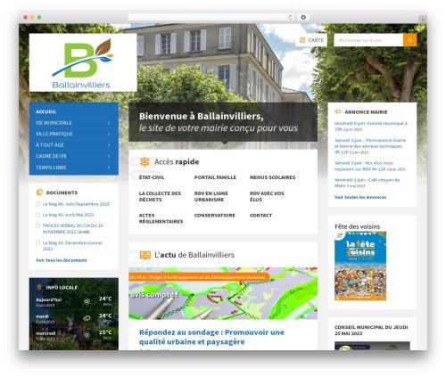 Best WordPress theme TownPress - mairie-ballainvilliers.fr
