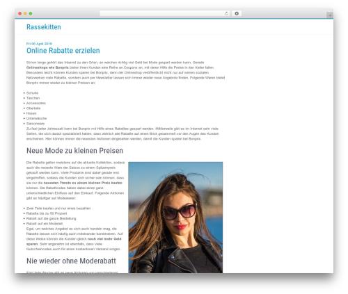 Businessweb Plus WP template - rassekitten.de