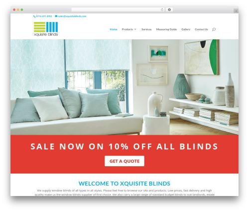Divi WordPress theme - xquisiteblinds.com