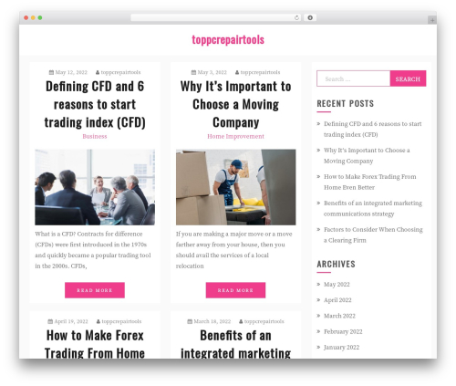 Gist premium WordPress theme - toppcrepairtools.com