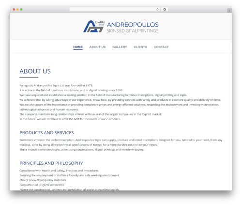 Theme WordPress The7 - andreopoulos.com