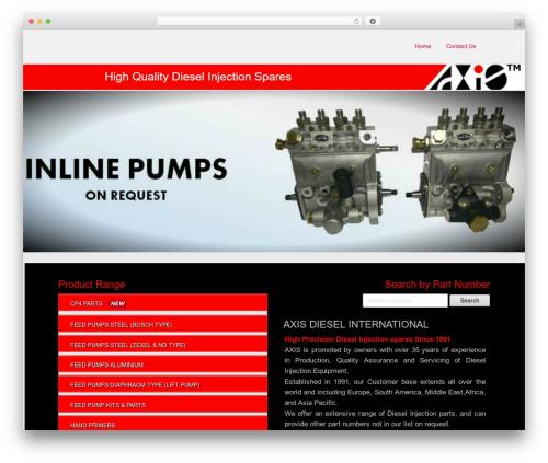 WordPress website template Paraswift - axisdiesel.com