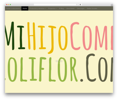 Arcade Basic best free WordPress theme - mihijocomecoliflor.com