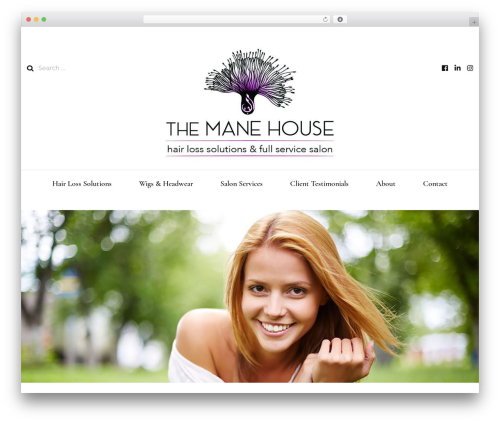 Blossom Fashion best WordPress template - themanehouse.com