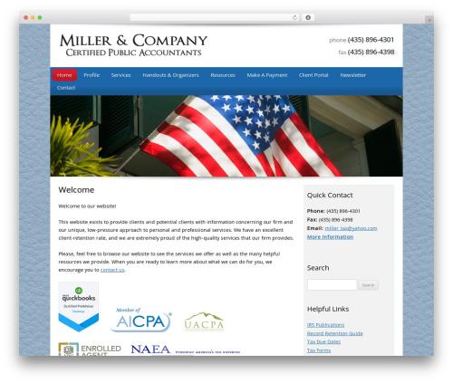 Customized company WordPress theme - millertaxes.com