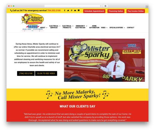 Divi WordPress theme - mistersparkycharlotte.com