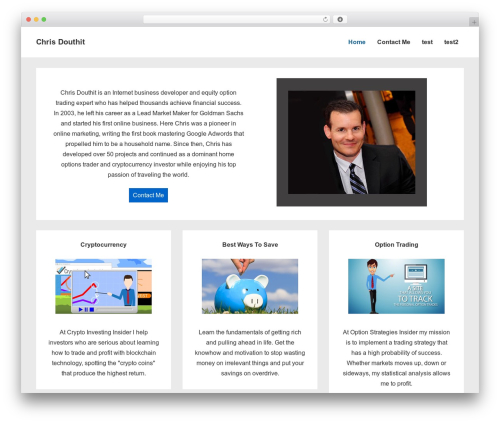 Responsive template WordPress free - chrisdouthit.com
