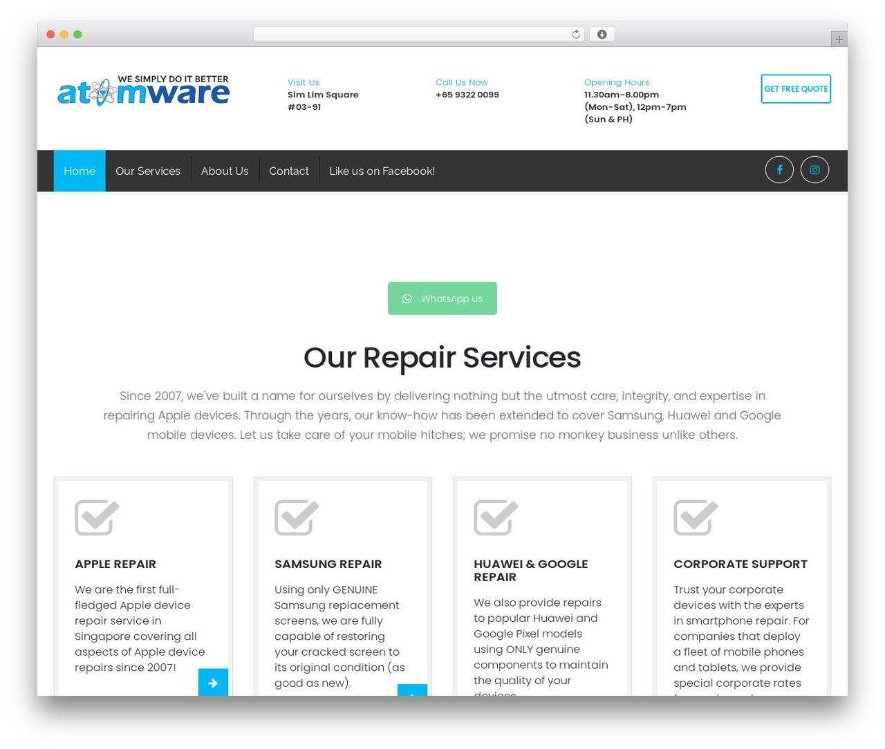 Restore best WooCommerce theme - atomware.com.sg