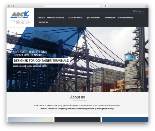 TheBuilt theme WordPress - arck-sensor.com