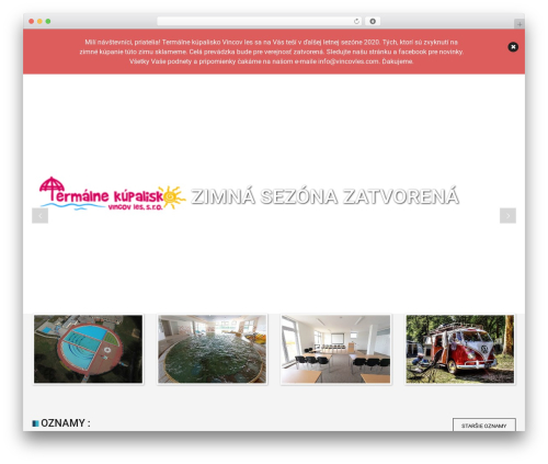 WordPress theme SwimmingPool - vincovles.com