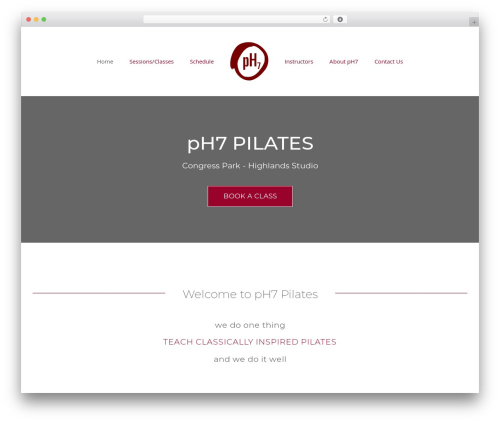 Avada WordPress website template - ph7pilates.com