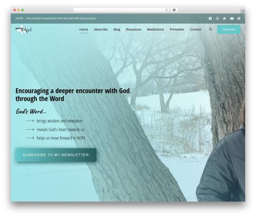 Ave theme WordPress - meditationsbyapril.com