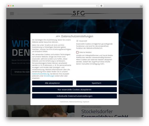 Best WordPress template Tectxon - sfg-gmbh.com