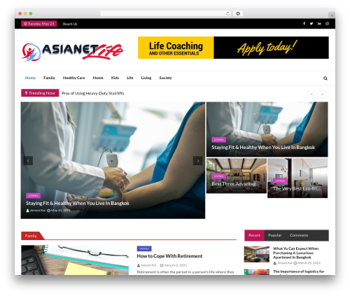 Best WordPress template Ultra Seven - asiaent-life.com