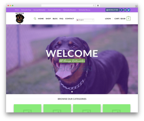 Flatsome WordPress theme - rottweilerfan.com