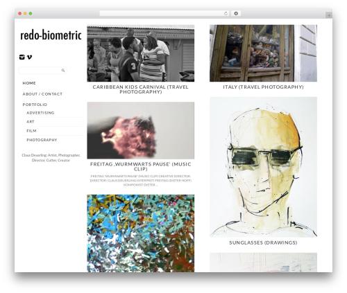 Template WordPress Side Grid Responsive WordPress Theme - redo-biometric.com