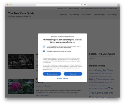 WordPress theme Neve - thetreecareguide.com