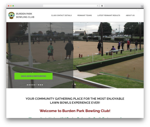 BA Club theme WordPress theme - burdenpark.bowls.com.au