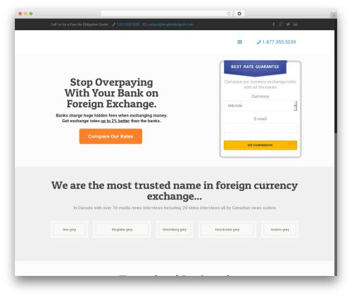 Betheme WordPress website template - snowbirdcurrencyexchange.com